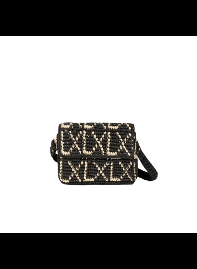 ALIX The Label Crochet Bag  Zwart/Ecru