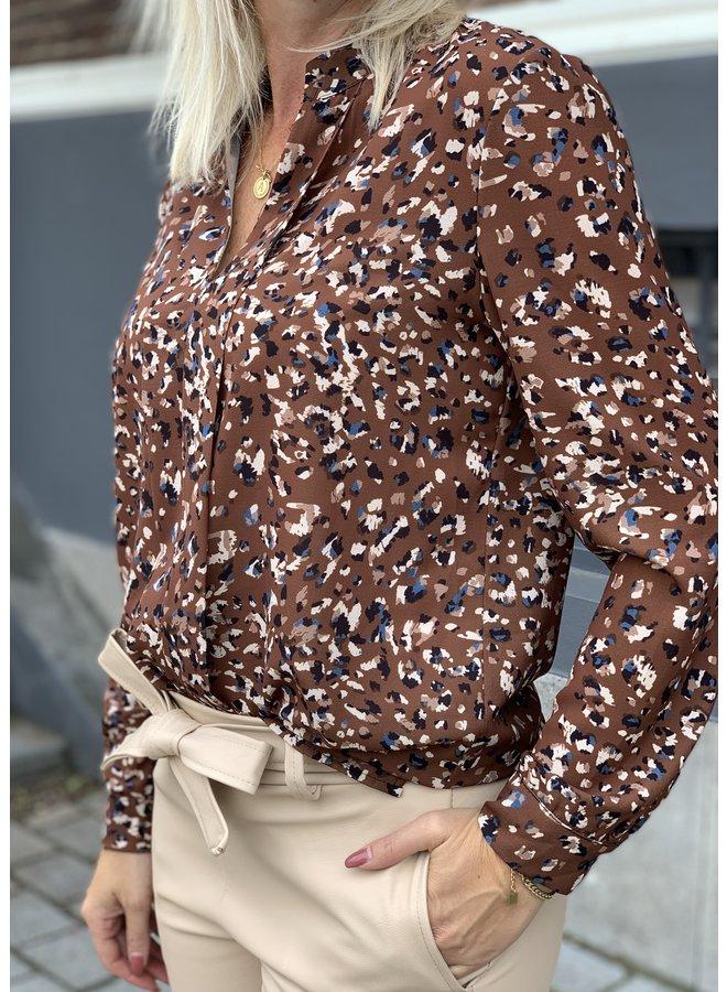 Blouse Camicia Bruin