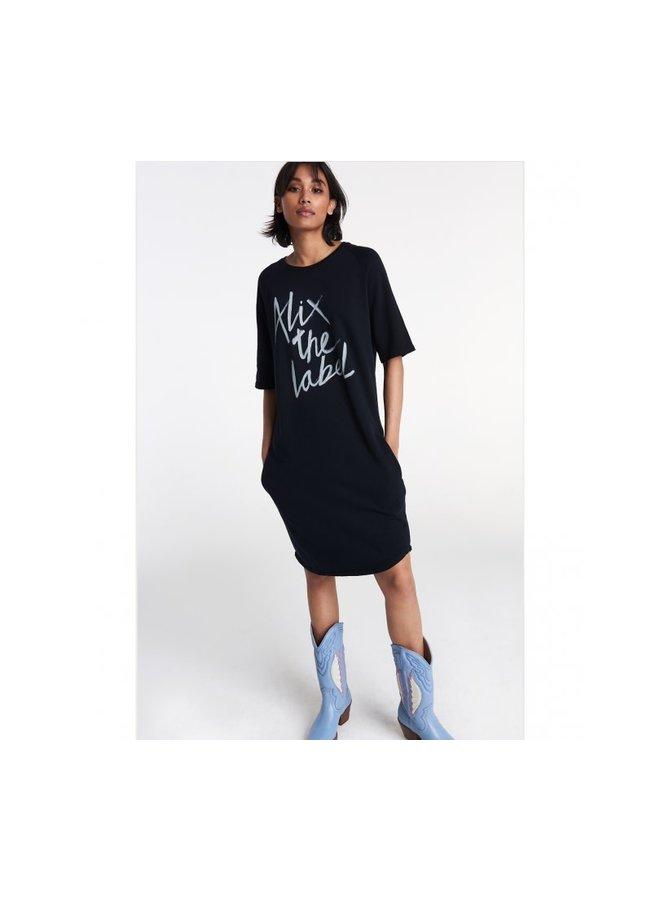 T-shirt-jurk Black