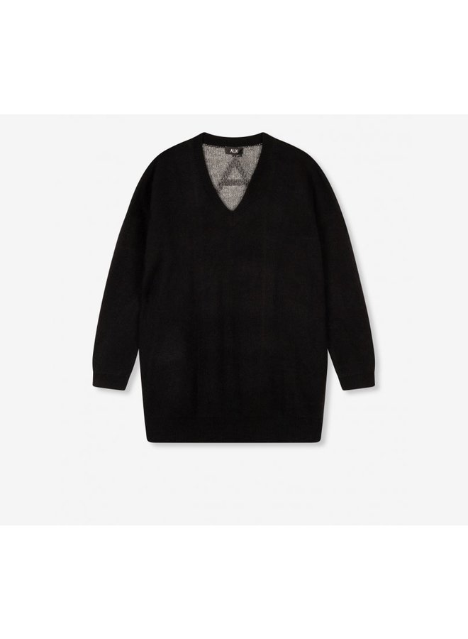 Trui Oversized V-Neck Black