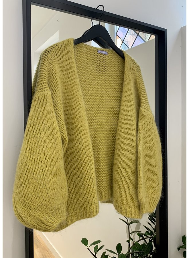 Mohair vest Warm Olive 0646