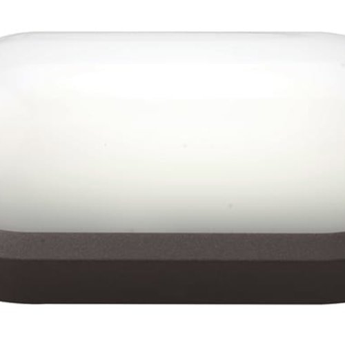 Tronix LED Wandlamp | Ovaal | 270x147mm | 3000K | Zwart | IK10 | Sensor