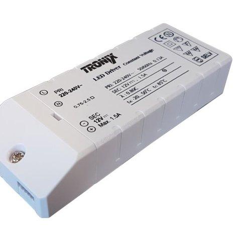 Tronix Power Supply | 12V | 18W | Block type indoor | 2 jaar garantie