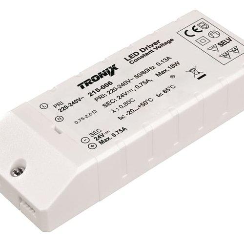 Tronix Power Supply | 24V | 18W | Block type indoor | 2 jaar garantie