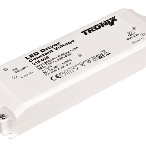 Tronix Power Supply | 12V | 40W | Block type indoor | 2 jaar garantie