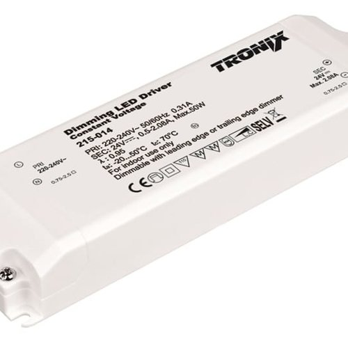 Tronix Power Supply | 24V | 50W | Triac Dimbaar| Indoor
