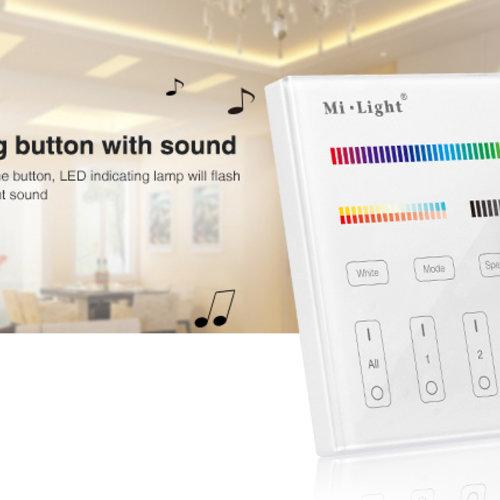 Mi-Light Mi-light T4   4-Zone Paneel Wandbediening RGB+CCT   2 Jaar Garantie