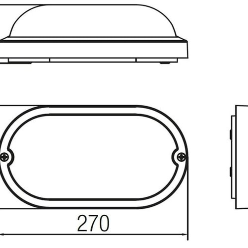 Tronix LED Wandlamp | Ovaal | 270x147mm | 4000K | Wit | IK10 | Sensor