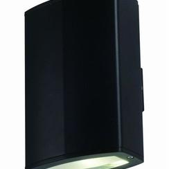LED Wandlamp   Zwart   2x 10W   Dubbel