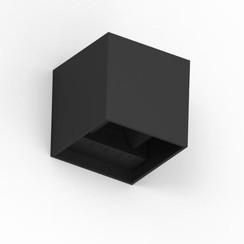 LED Wandlamp | Cube 10x10x10cm | Zwart | Up & Down | 6W | Dimbaar