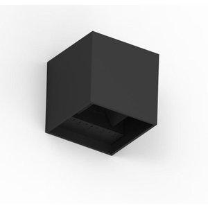 Tronix LED Wandlamp | Cube 10x10x10cm | Zwart | Up & Down | 6W | Dimbaar