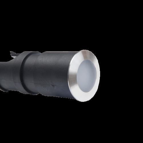 Tronix Grondspot| 24V | 42mm | Matt | Grijze Ring | 2,4W | 3000K (2 jaar garantie)