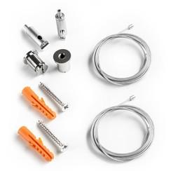 Kabel Ophang kit voor PL10 |tot aan 150 cm | 2 kabels (2 jaar garantie)