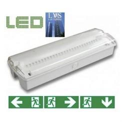 Complete Set: Noodverlichting + Stickers: LED Opbouw Noodverlichting 220 Lumen