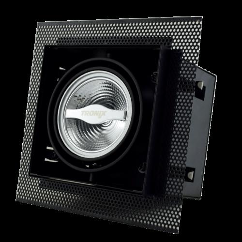 Tronix Trimless Inbouwspot | Zwart  | AR70 | GU10 Fitting Inclusief