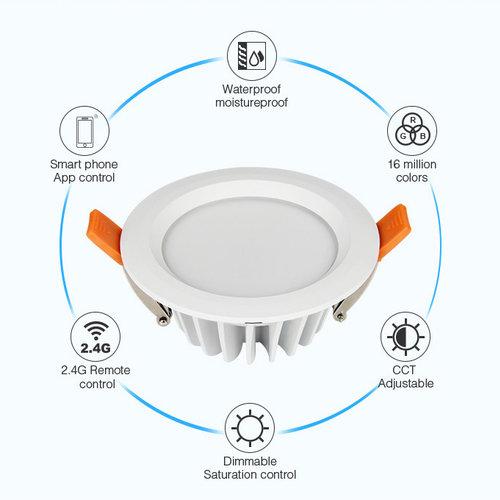 Mi-Light Waterproof LED Downlight 6W RGB+CCT | 2 jaar garantie