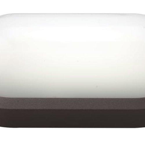 Tronix LED Wandlamp | Ovaal | 270x147mm | 3000K | Zwart | IK10 | Incl. Sensor