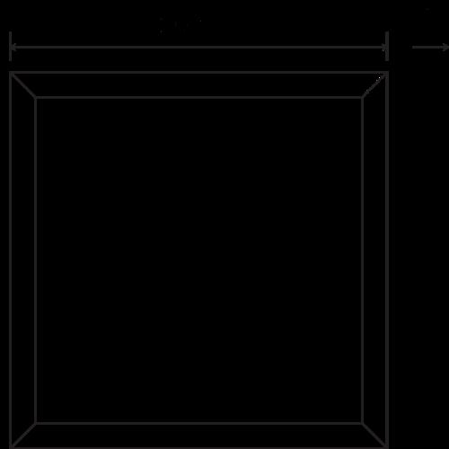 Tronix Triac Dimbaar LED Paneel | 60x60 | >100Lm/W | 4000K | Wit Frame |