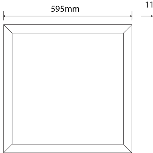 Tronix Dimbaar LED Paneel | 60x60 | >120Lm/W | 3000K | Wit Frame | 1-10V |