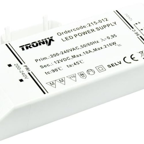 Tronix Power Supply | 12V | 216W | Block type indoor | 2 jaar garantie
