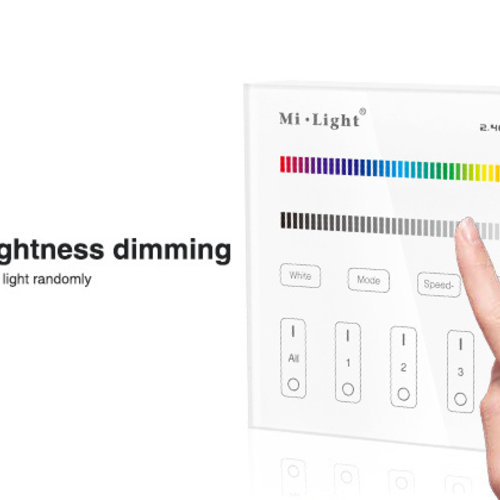 Mi-Light Smart Panel afstandsbediening 4-Zone RGB/RGBW | 2 jaar garantie