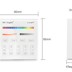 Smart Panel afstandsbediening 4-Zone (RGB+CCT)