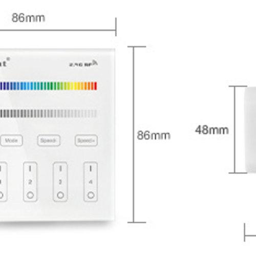 Mi-Light 4-Zone RGB/RGBW Smart Panel Afstandsbediening | 2 jaar garantie