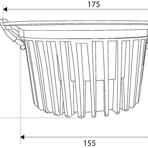 Tronix LED Reflecterende Inbouwspot | 15 Watt | 3000K (2 jaar garantie)