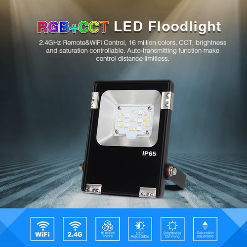 Mi-Light 10W RGB+CCT LED Floodlight/Breedstraler | 2 jaar garantie
