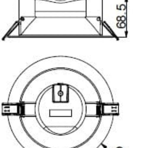 Tronix LED Downlight Inbouwspot| Inbouw maat 145-155mm | 17W | Dimbaar | 2 jaar garantie