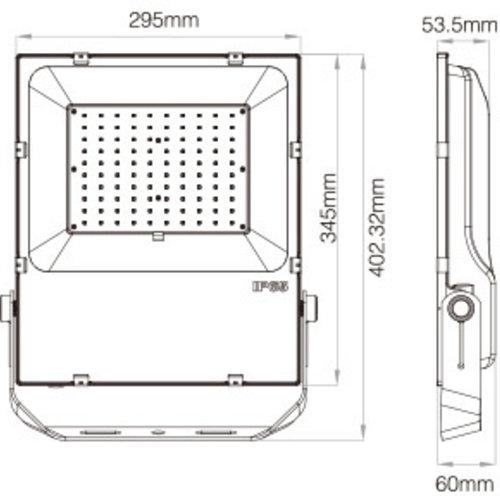 Mi-Light 100W RGB+CCT LED Floodlight/Breedstraler | 2 jaar garantie