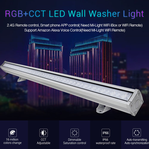 Mi-Light 24W RGB+CCT LED Wall Washer Light | 2 jaar garantie