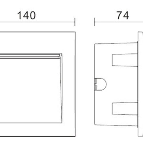 Tronix Marker Light | 15 x 2835 | 3 Watt | 140*140 | 2 jaar garantie