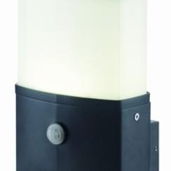 LED Wandlamp | Zwart | 1x 10W | Sensor | Opaal Cover