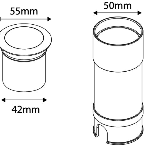 Tronix Grondspot| 24V | 55mm | Bronzen Ring | 2W | 3000K (2 jaar garantie)