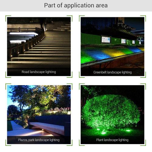 Mi-Light LED Tuinlamp 15W (grondlamp) - 2 jaar garantie - LED tuinverlichting, makkelijk te installeren | 2 jaar garantie