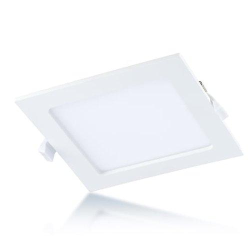 Tronix Vierkant LED Downlight ECO | Witte kleur | 12 Watt |4000K | Niet dimbaar | 2 Jaar Garantie