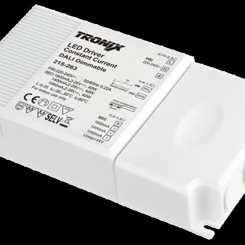 Tronix LED Driver | 1050/1400/1600mA | 40 Watt | Dali Dimbaar (2 jaar garantie)