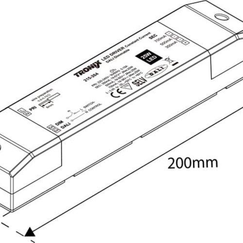 Tronix LED Driver | 350/500/700mA | 25 Watt | Dali Dimbaar (2 jaar garantie)