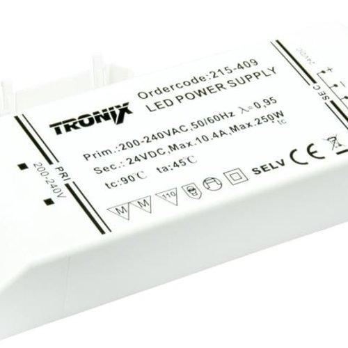Tronix LED Voeding | 24V | 250W | Block type binnen (2 jaar garantie)