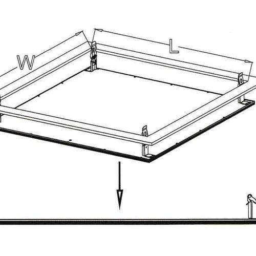 Tronix Spring Kit Set voor LED Panelen (2 jaar garantie)