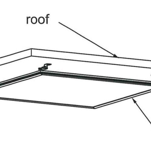 Tronix Makkelijke Opbouw Kit voor LED Panelen (2 jaar garantie)
