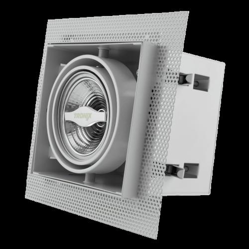 Tronix Trimless Inbouwspot | Wit | AR70 | GU10 inclusief | 2 Jaar Garantie