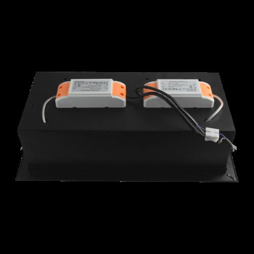 Tronix Dubbel Trimless Inbouwarmatuur   2 x AR111   Zwart   2 Jaar Garantie