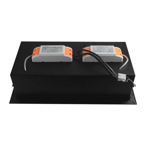 Tronix Dubbele Trimless Inbouwspot | 2 x AR111 | Zwart | 2 Jaar Garantie