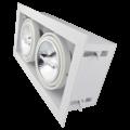 Tronix Dubbel Trimless Inbouwarmatuur | 2 x AR111 | Wit | 2 Jaar Garantie