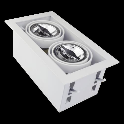 Tronix Dubbele Trimless Inbouwspot | 2 x AR70 | Wit | 2 Jaar Garantie