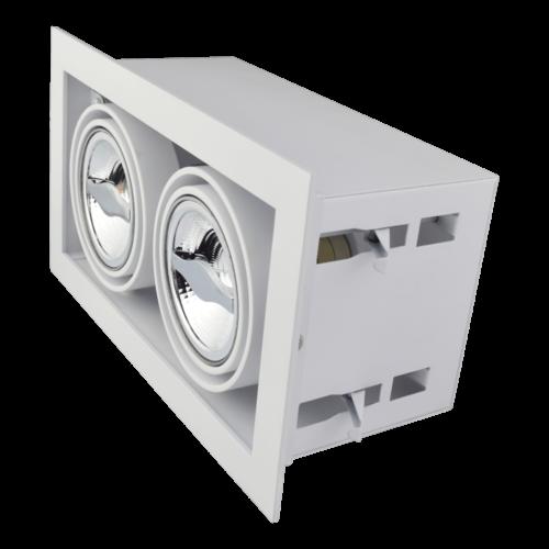 Tronix Dubbel Trimless Inbouwarmatuur | 2 x AR70 | Wit | 2 Jaar Garantie
