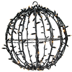 3D Ball | 50cm | Black Cable | 3000K WW & Flash 3000K WW