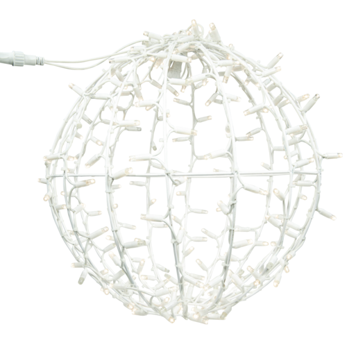 Tronix 3D Ball | 80cm | White Cable | 3000K WW & Flash 3000K WW
